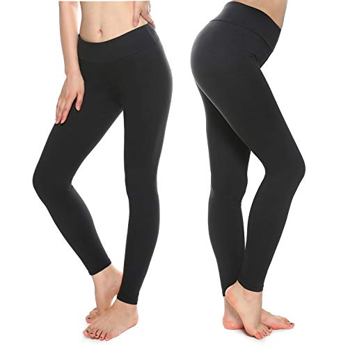 KT Super Soft Buttery Leggings - High Waisted Slimming Leggings - Womens Tummy Control Pants (One Size, Black)