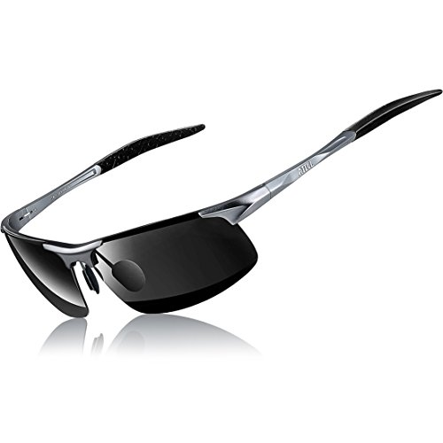 ATTCL Men's HOT Fashion Driving Polarized Sunglasses for Men Al-Mg Metal Frame Ultra Light A-Grey - Sunglasses Mens Polarized