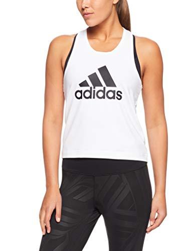 per donna bianca Canotta D2m Logo Adidas 6wxnOqt