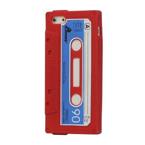 iProtect Silikon Schutzhülle iPhone 5 / 5S Kassette rot