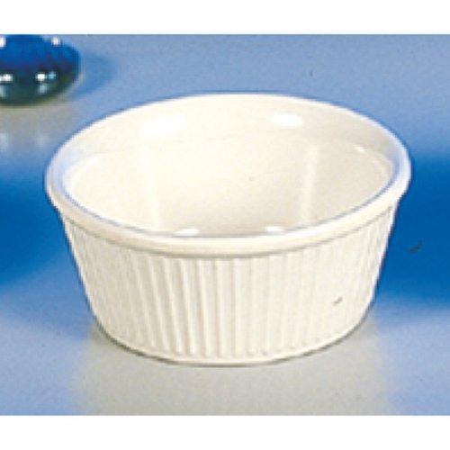 (Pack of 12) 3¾ Oz. Fluted Melamine Ramekin / Sauce Cup Multi-Color - Break-Resistance *NSF* (Bone)