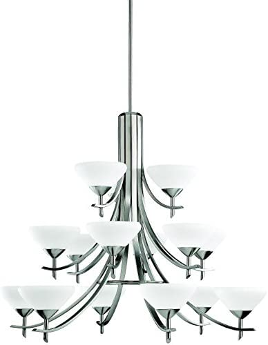 Kichler 1681AP 15-Light Olympia Incandescent Chandelier, Antique Pewter