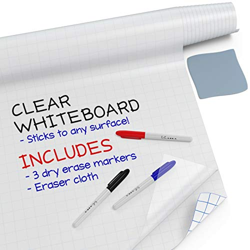 Kassa Clear Dry Erase Board Sticker - 18