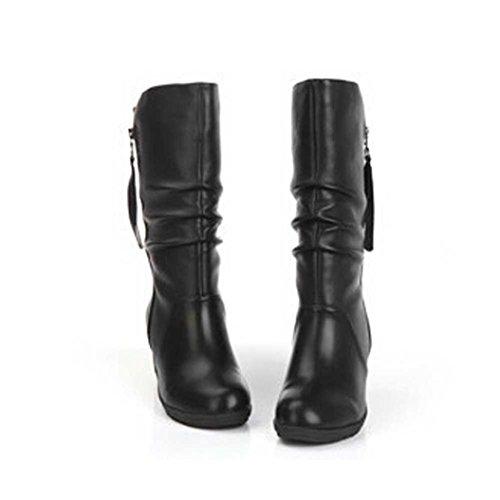 Ankle Da Somesun Alto Women Boots Tacco High Zeppa Heel Zipper Stivali Caviglia Donne Scarpe Inverno Boots Black Invernali Donna Di Calde wPpqPtST