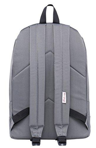 524s #ALWAYSBEENME gestickter Rucksack | Passend für 15,6-Zoll-Laptop | Weizen D224b, Grau