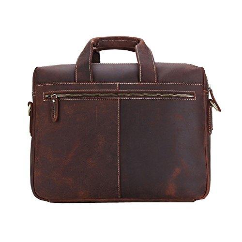 Othilar Herren Leder Tasche Handtasche Aktentasche Schultertasche für Laptop Uni
