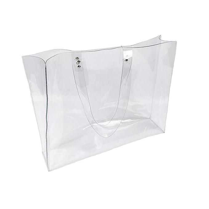 Amazon.com  Beautiful Large Transparent PVC Tote Bag Purse Clear Handles  Handbag  Clothing 8221155155143