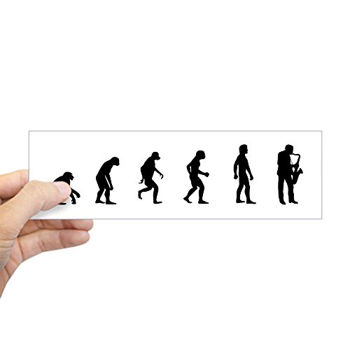 CafePress Evolution of Saxaphone Bumper Sticker 10
