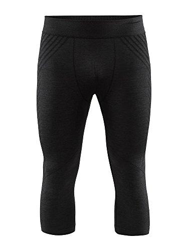[해외]Craft 남성용 퓨즈니트 컴포트 베이스 레이어 위킹 하프 팬츠 니커 / Craft Sportswear Mens Fuskenit Comfort Athleisure Base Layer Wicking Half Pant Knicker, Black, Large