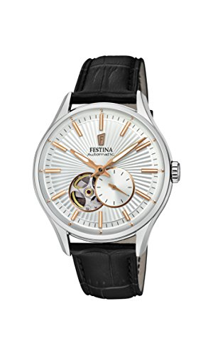 Festina Mens Analogue Automatic Watch with Leather Strap F16975/1
