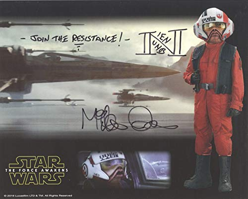 MIKE QUINN as Nien Nunb – Star Wars: The Force Awakens 8″x10″ GENUINE AUTOGRAPH