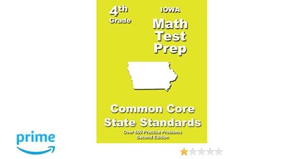 Iowa 4th Grade Math Test Prep: Common Core Learning Standards ...