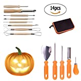 Pumpkin Carving Kit Halloween Creative 14 Pieces of Sturdy Stainless Steel Pumpkin Carving Tool Fruit and Vegetable Carved Kitchen Tools DIY Pumpkin Light Decoration