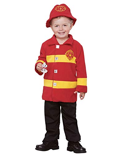 Baby Firefighter Costume (Seasons Direct Halloween Baby-Boy's Brave Firefighter Costume(12-18 M) Red and)