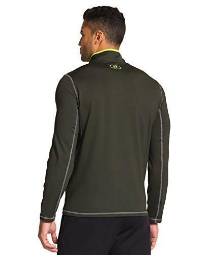 Under Armour Men's UA ColdGear® Evo ¼ Zip Large Rifle Green