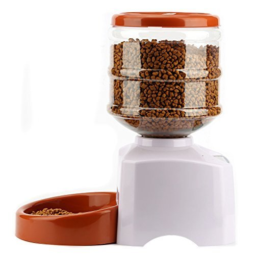 iUcar Dog Feeders Automatic Pet Feeders for Dogs Cats with Large Container and LCD Panel,Voice Recording
