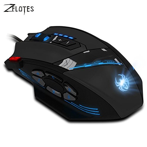 Professional Favorite Collections Series C-12 Programmable 4000 DPI LED Optical USB Gaming Mouse gamer sem fio Mice (Burner Series System)