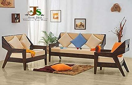 Js Home Decor 3 2 1 Seater Solid Rosewood Sheesham Wood Sofa Sets