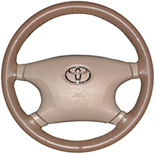 product image for Wheelskins Original One Color non perforated style Leather Steering Wheel Cover - Color: Yellow, Size: 15 1/2 inches X 3 3/4 inches