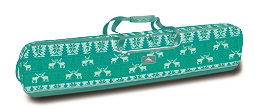 High Sierra Padded Snowboard Bag, Knitty Pow/Tropical Teal