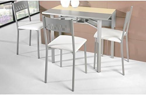 SHIITO Mesa de Cocina Extensible 93x30 cm con Dos alas texturadas ...