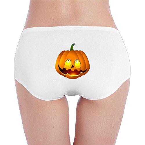 Golfer Costume 2t (Women's Organic Cotton Hipster Pumpkin Face Halloween Basic Panties/Briefs Underwear)