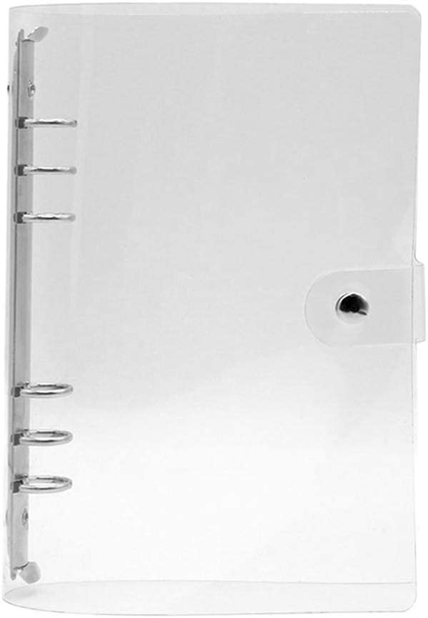 Extaum Notebook Binder,1Pc Cartella per file di clip in PVC trasparente Foglio per notebook sciolto R-ing Binder Diario Agenda Scuola Forniture per ufficio