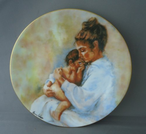 "Vintage (1975) Haviland Limoges France ""LAURA AND CHILD"" by Marian Carlson LE Collector Plate"