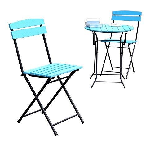 buscando agente de ventas azul Conjuntos de mesas y sillas de de de Mesa Plegable al Aire Libre Balcón Plegable Tablas de Ocio Combinación de Hierro de tablasSillas (Color  azul)  el mejor servicio post-venta