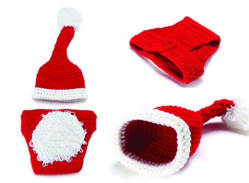 Charmed Baby Boy Girl Crochet Costume Outfit Photo Props (Santa Hat)