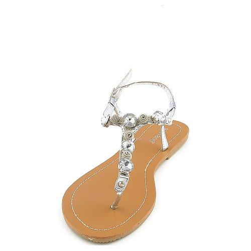 02 Silver Women Sandal - 6
