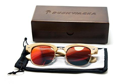 de bois soleil main En Rouge Fait Dames Nouveau lunettes Madrid Bushwacka Des Polarisé x7PPC