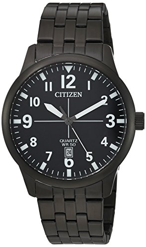 Citizen-Mens-Quartz-Stainless-Steel-Casual-Watch-ColorBlack-Model-BI1055-52E