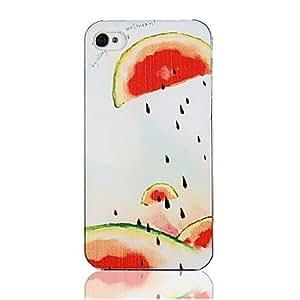 Original Watermelon Spit Seed Pattern Transparent Frame Back Case for iPhone 4/4S