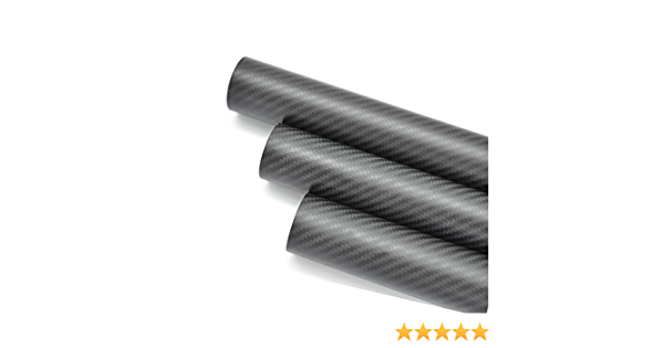 US-WHABEST Glossy 18MM OD x 16MM ID x 1000MM 100/% Roll 3k Carbon Fiber Tube//Tubing Shaft,Quadcopter arm Helicopte
