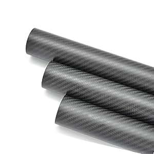 2pcs OD 35mm ID 33mm Carbon Fiber tube 3K 500mm long (Roll Wrapped) Matte surface