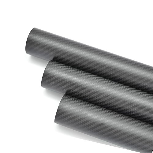 WHABEST 2pcs OD 35mm ID 32 mm x 500mm Long 3k Carbon Fiber tube / Tubing / pipe / shaft