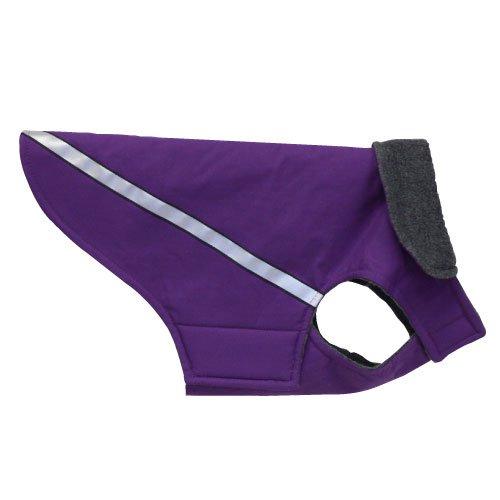 RC Pet Products West Coast Rain Wear Dog Coat, Size 18, Purple
