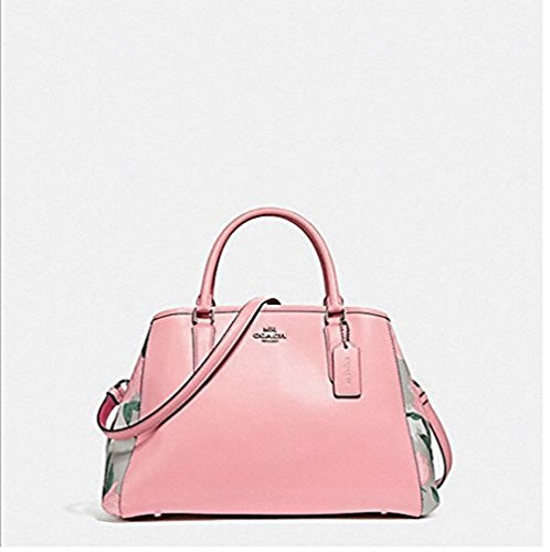 COACH SMALL MARGOT CARRYALL WITH CAMO ROSE FLORAL PRINT, - Coach Handbags Camouflage