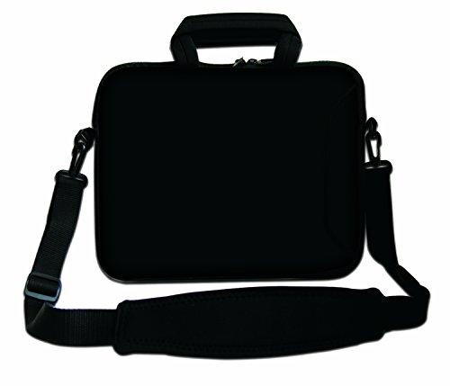 "Ektor - Funda blanda tipo bolsa para portátil de 10-17,6"" con correa de hombro negro"