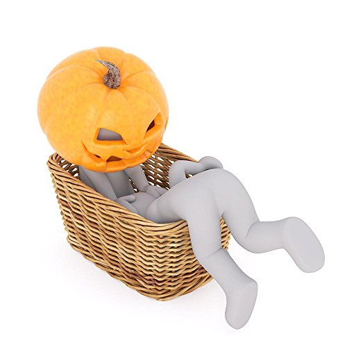 (Quality Prints - Laminated 24x24 Vibrant Durable Photo Poster - Halloween Pumpkin Deco Autumn Pumpkins Autumn Gourd Face Hollow Out Hokkaido Autumn Time 3Dman 3D 3D Model Isolated Model Full)