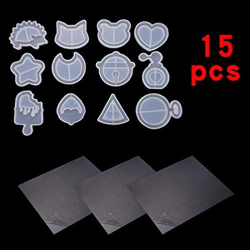 Moon Cat Pendants Silicone Shaker Mold Silicone Hollow Mold Epoxy Resin Moulds Quicksand Casting Molds Crystal