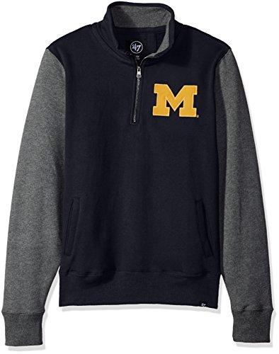 NCAA Michigan Wolverines Men's 47 Triple Coverage 1/4-Zip Pullover Fleece, X-Large, Fall Navy