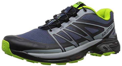 Salomon Men's Wings Pro 2 Trail Runner, Slate Blue/Light Onix/Granny Green, 11 M US ()