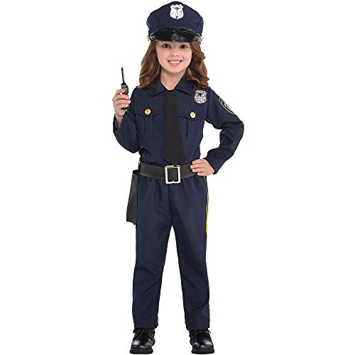 Suit Yourself Classic Police Officer Costume for Girls, Size Large, Includes a Shirt, Pants, a Walkie-Talkie, and More]()