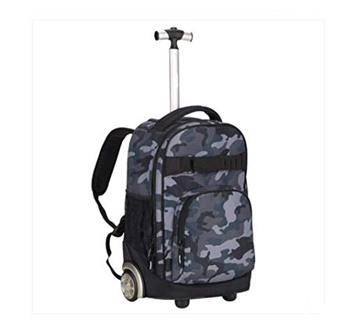 Trolley Backpack, Backpack Wheeled Schoolbag Rolling Backpacks Waterproof School Carry On Suitcase with Six Wheels 12.597.8718.11inch,I
