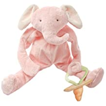 Bunnies By The Bay Peanut Silly Buddy Plush Toy, Pink Elephant with Pacifier Holder by Bunnies by the Bay