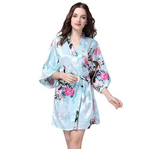Women Printed Sleepwear Half Sleeve Nightwear Satin Top Pajama Blouse for $<!--$7.75-->
