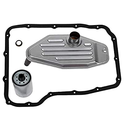 AUTEX 4x4 Deep Pan Transmission Solenoid Fluid Change Filter Service Gasket Kit Fit 45RFE 545RFE 68RFE 4WD 3.7 L 4.7L 5.7L 2.8L, Compatible With Jeep Liberty 2003-2007 5 SP R/4WD L4 2.5L/2.8L DIESEL: Automotive