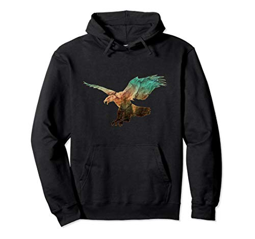 Majestic Eagle Nature Photograph American Bald Eagle Pullover Hoodie